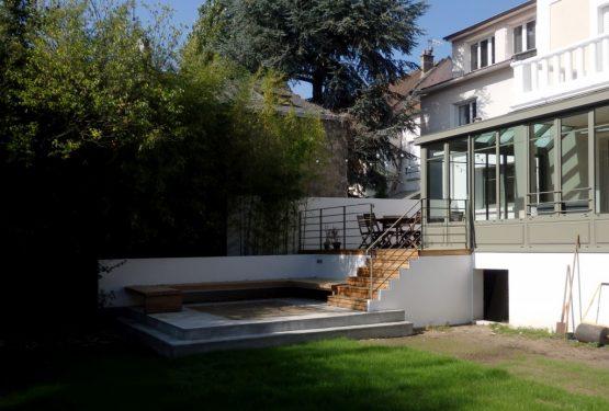 14VH – Terrasse à double niveau, par AANR