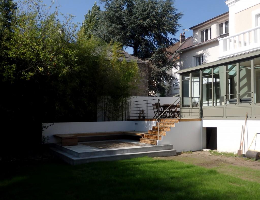 14vh terrasse double niveau par aanr maison d. Black Bedroom Furniture Sets. Home Design Ideas