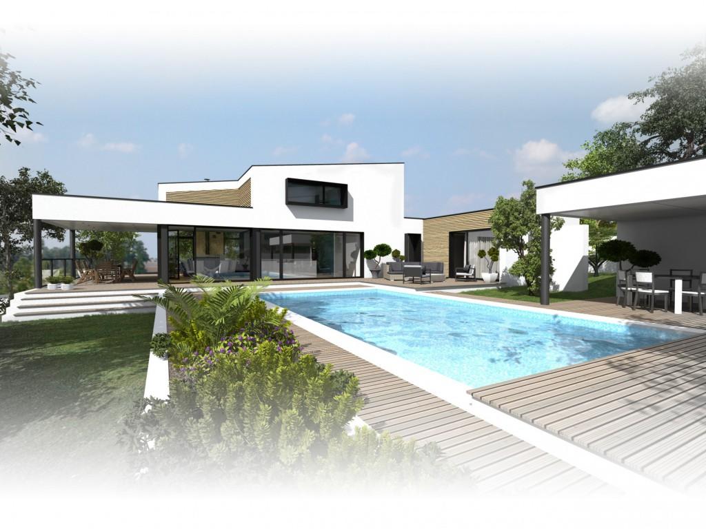 Construction d une maison vertou par atelier 14 for Construction maison architecte