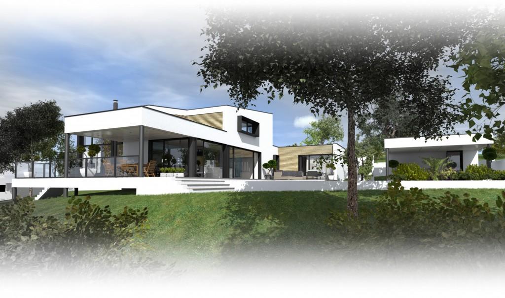 construction d une maison vertou par atelier 14 maison d 39 architecte. Black Bedroom Furniture Sets. Home Design Ideas