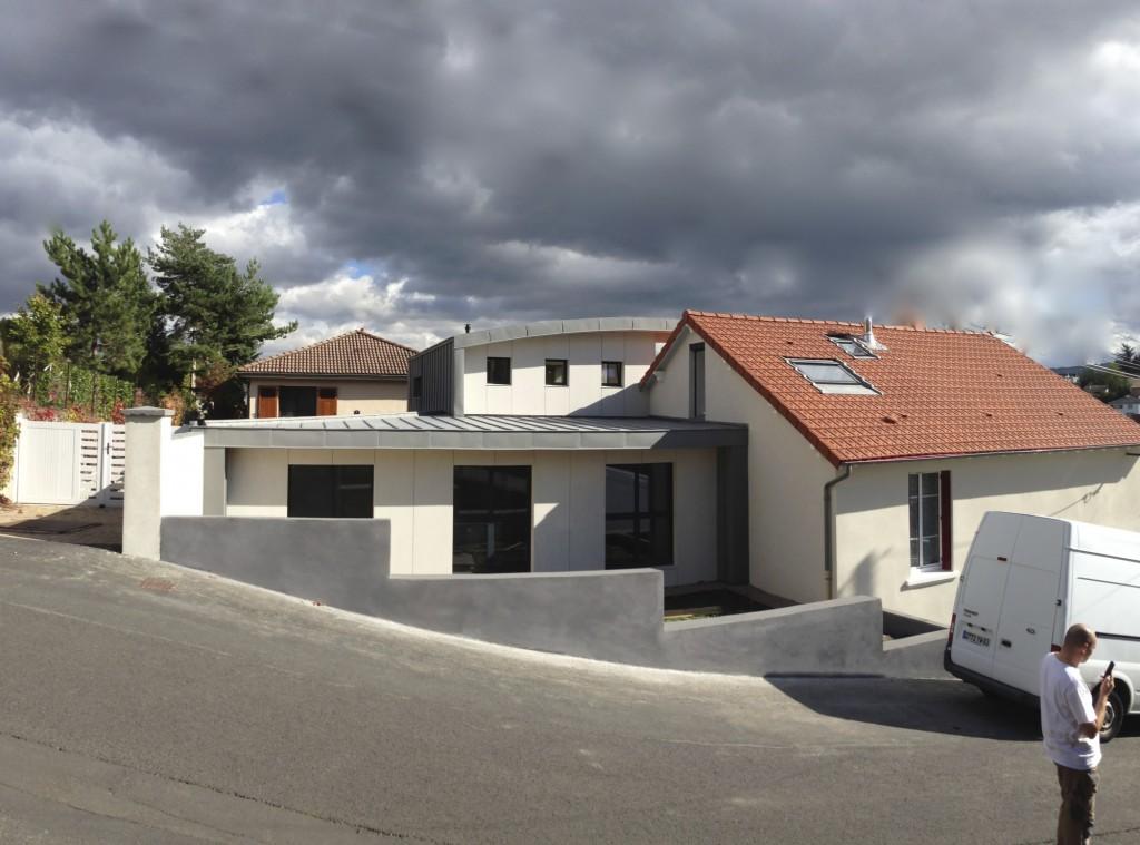 Extension Habitation extension d'une habitation en ossature bois, par esquisse