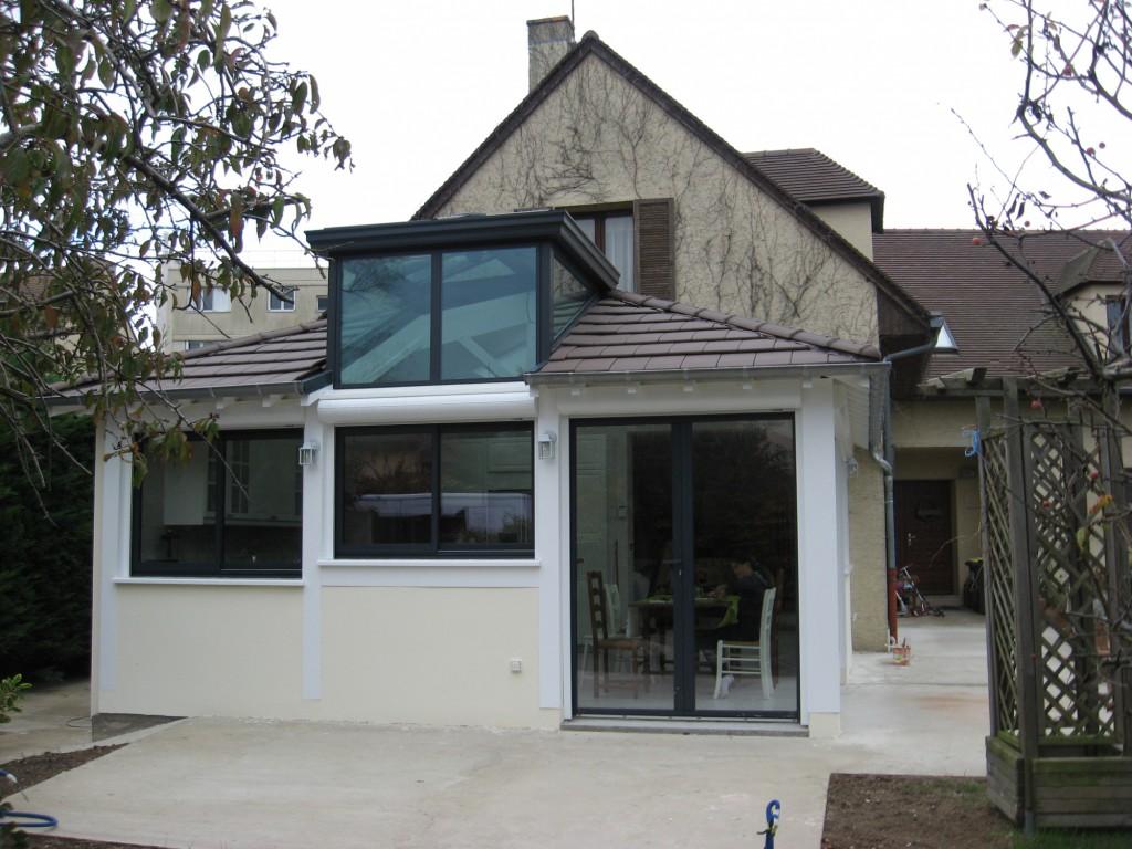 extension d une maison croissy par atelier de flor maison d 39 architecte. Black Bedroom Furniture Sets. Home Design Ideas
