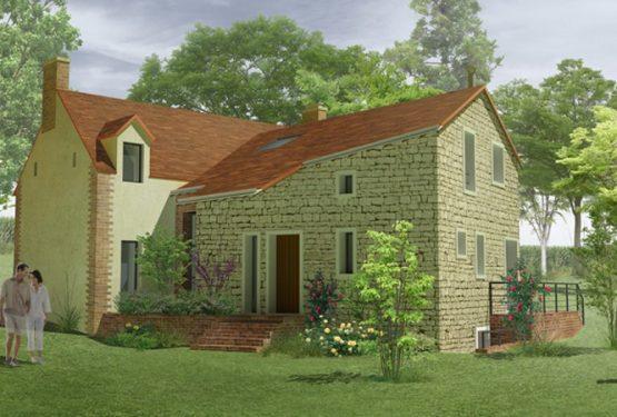 Extension d'une maison de campagne à St Vincent du Lorouer, par ATELIER POTENTIEL