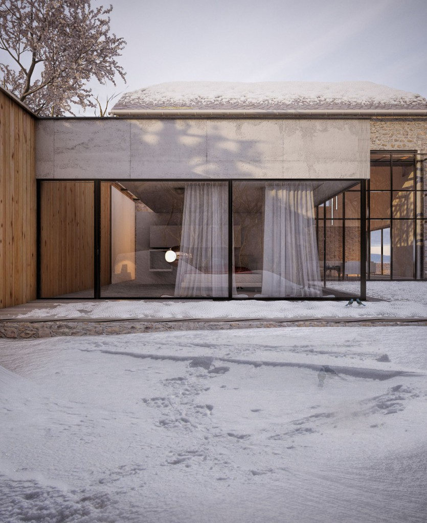 extension et reconversion d une bergerie en aveyron par fabrice commer on maison d 39 architecte. Black Bedroom Furniture Sets. Home Design Ideas