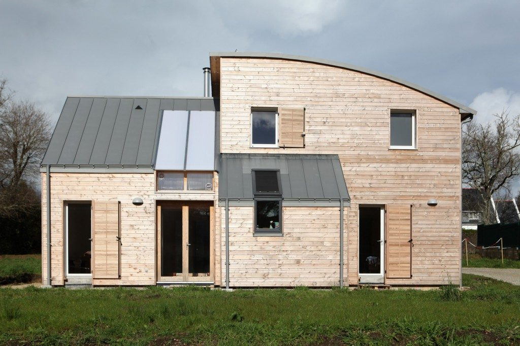 Materiaux naturels et habitat sain pour une maison rt 2012 riec sur b lon - Patrice bideau architecte ...