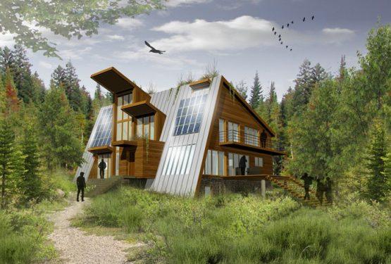 Maison à énergie autonome, à St Jean de Matha au Canada, par ATELIER POTENTIEL