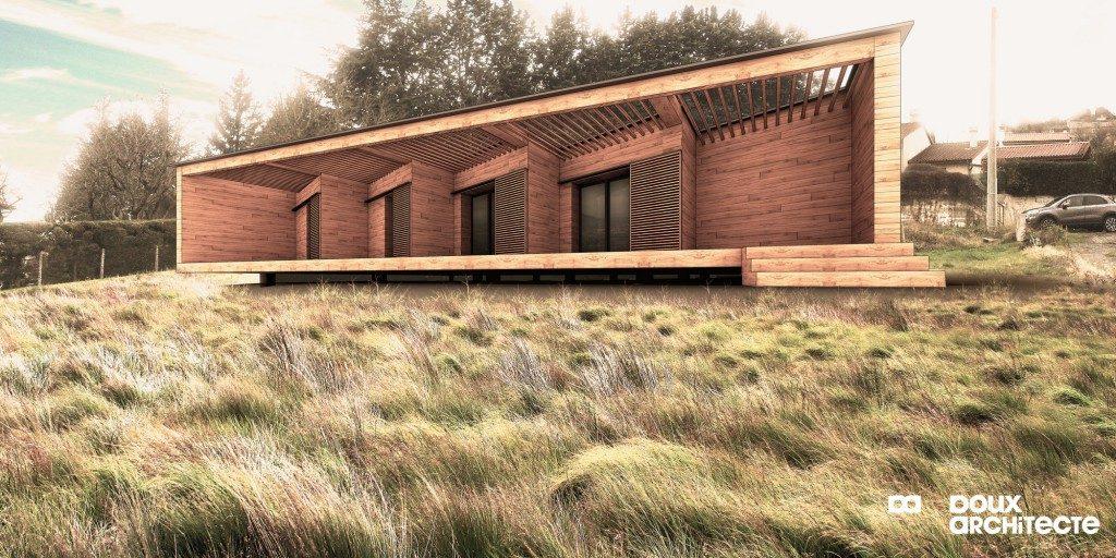 maison ossature bois 63 par florent doux architecte maison d 39 architecte. Black Bedroom Furniture Sets. Home Design Ideas