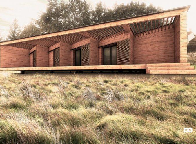 Maison à ossature bois (63), par Florent Doux Architecte