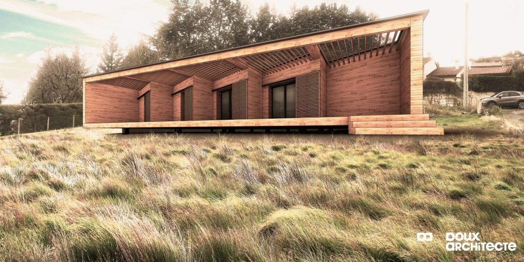maison ossature bois 63 par florent doux architecte maison d architecte