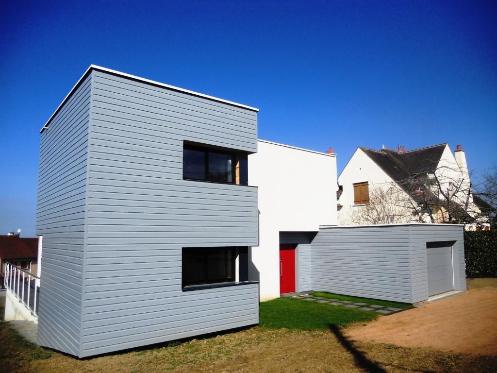 Maison m bourdin n ris les bains par architecture for Design architecture maison