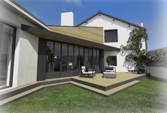 Rénovation et extension d'une maison à Clisson, par ATELIER 14