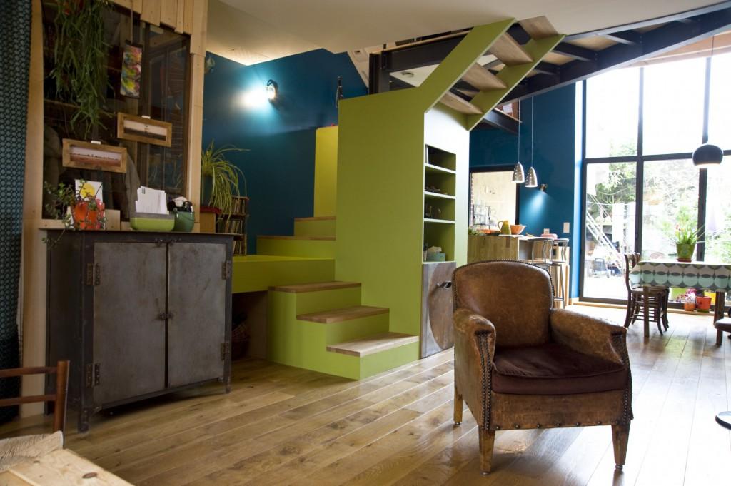 r novation d une maison de ville clisson par atelier 14 maison d 39 architecte. Black Bedroom Furniture Sets. Home Design Ideas