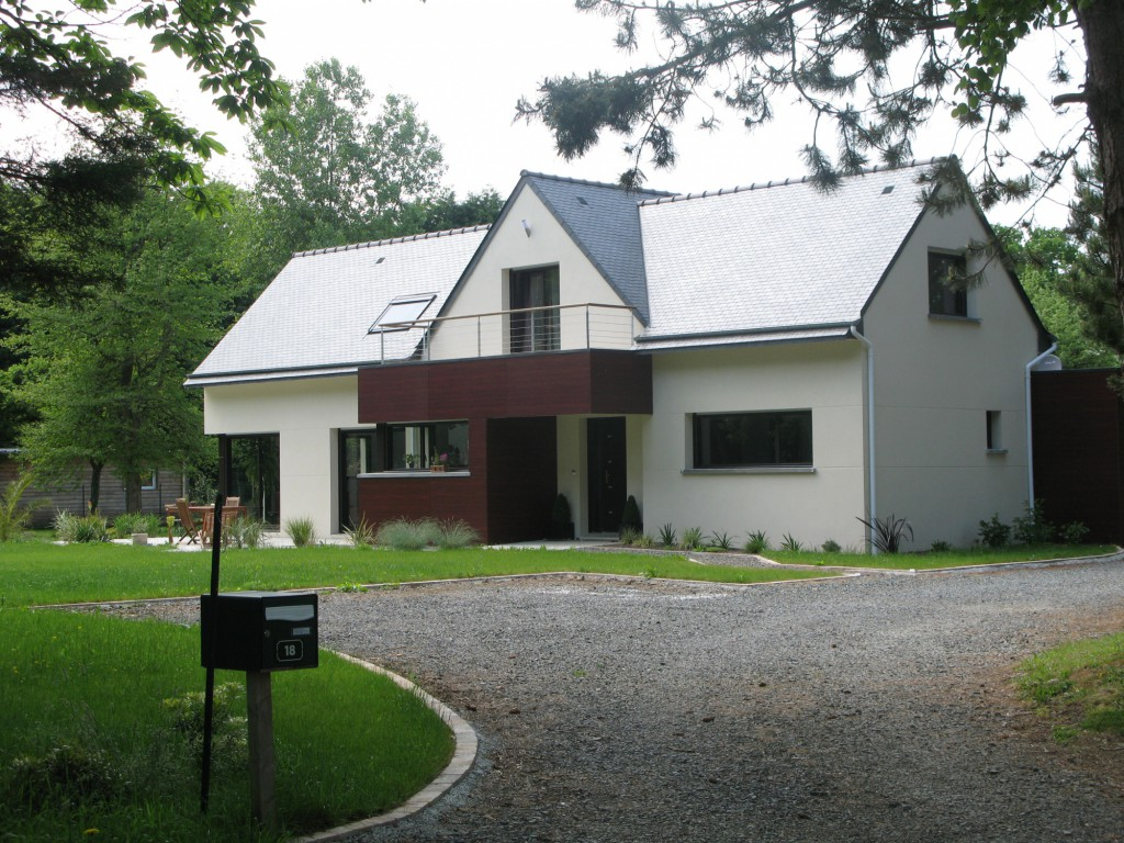 Maison individuelle par gross quelen maison d 39 architecte for Architecte maison individuelle