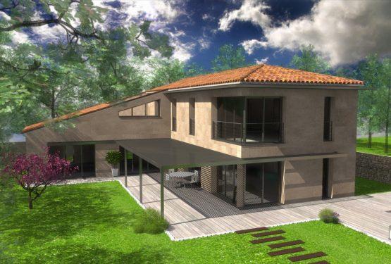 Création d'une villa contemporaine provençale en sité protégé, par Renaud & Mognetti