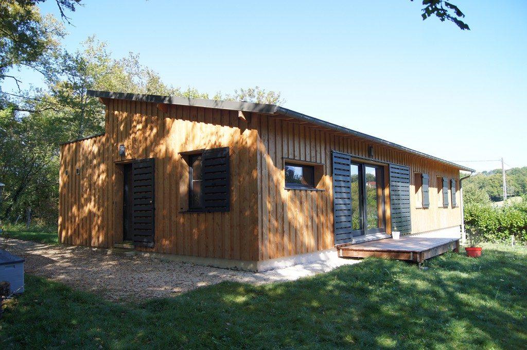 Maison d habitation ossature bois rt2012 par julien - Maison d architecte en bois ...