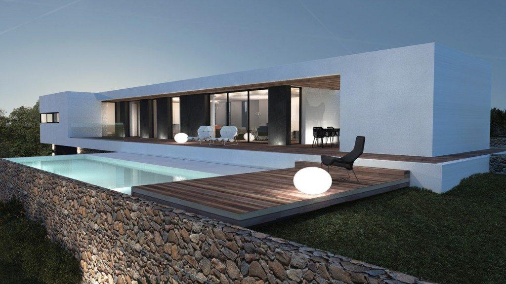 Maison moderne aix en provence par jy arrivetz architecte - Maison architecte design futuriste silvestre ...