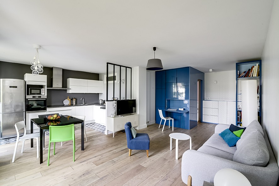 r novation totale d un appartement parisien par b n dicte montussac bmai maison d 39 architecte. Black Bedroom Furniture Sets. Home Design Ideas