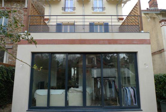 Surélévation et Extension d'une maison à Sceaux, par LANLO & PARTENAIRES