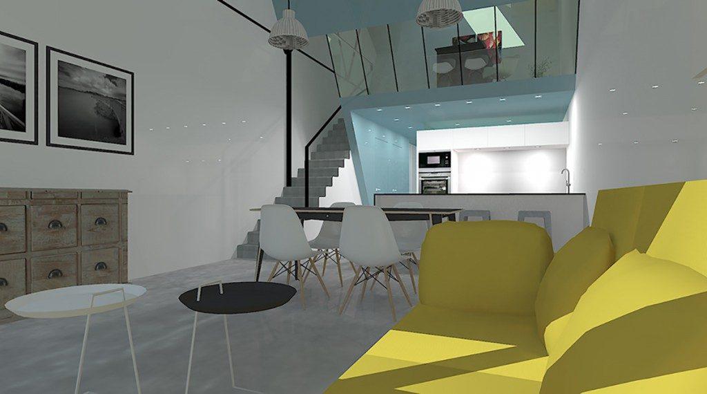 amenagement d un loft dans un site industriel par bassery michel maison d 39 architecte. Black Bedroom Furniture Sets. Home Design Ideas