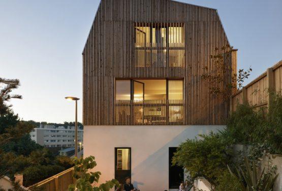 Surélévation d'une maison à Sèvres, par Agnès & Agnès architecture