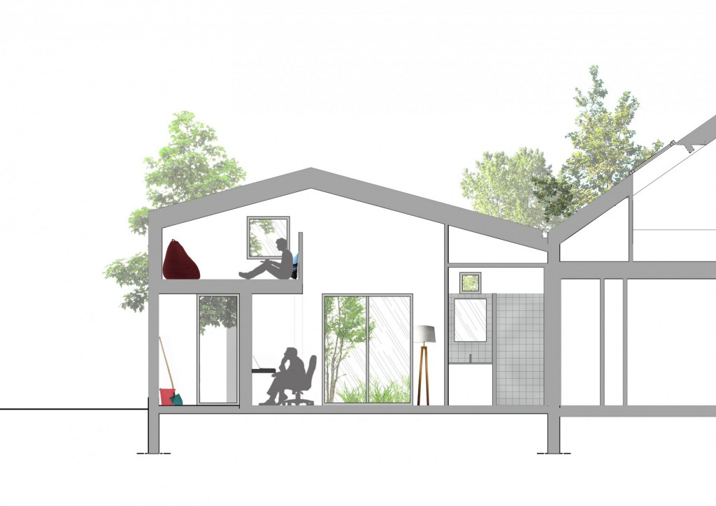 projet r extension d une maison individuelle par plast architectes maison d 39 architecte. Black Bedroom Furniture Sets. Home Design Ideas