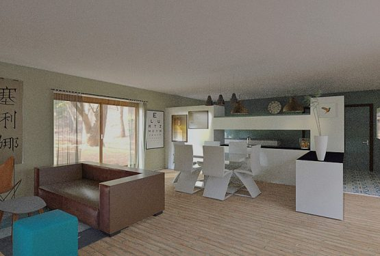 Rénovation de la pièce a vivre d'une longére, par Homedag Design Intérieur