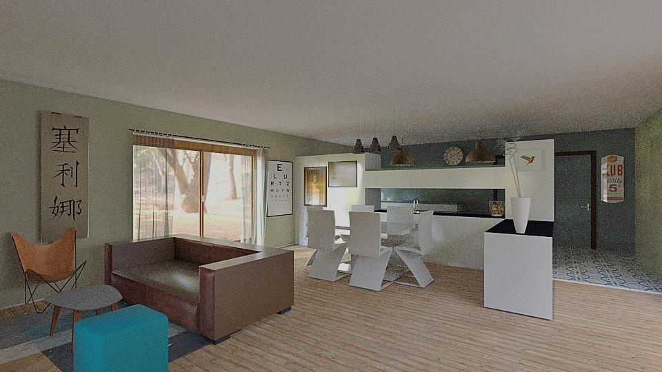 r novation de la pi ce a vivre d une long re par homedag design int rieur maison d 39 architecte. Black Bedroom Furniture Sets. Home Design Ideas