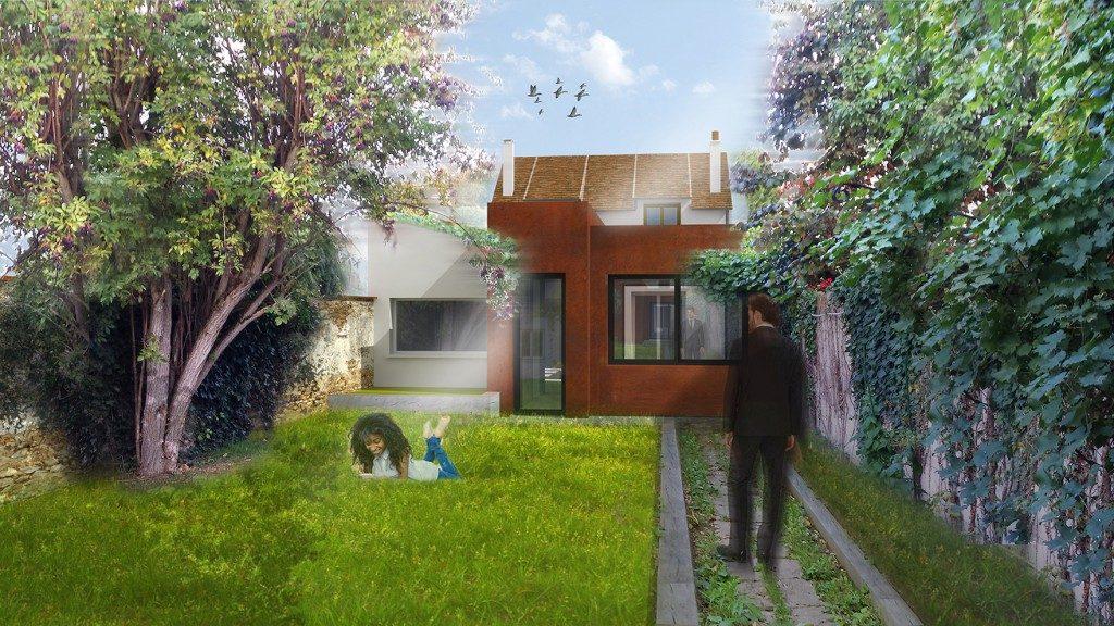 extension maison de ville large size of maison de ville. Black Bedroom Furniture Sets. Home Design Ideas