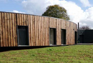Création maison paille, par A SPHERE ARCHITECTURE