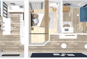 Rénovation F3 locatif Perpignan, par L'Atelier d'Angélique