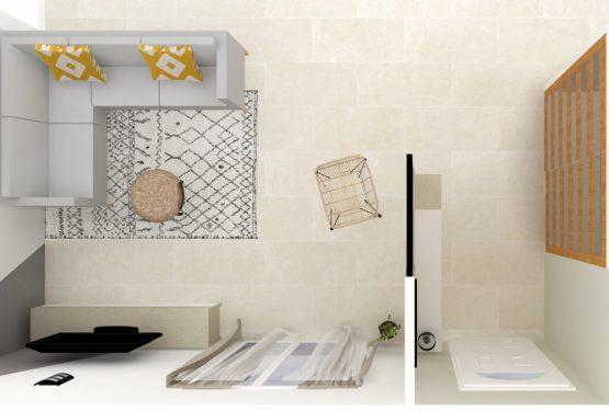 Création d'une entrée et réagencement d'un salon, par Raphaëlle décore pour vous